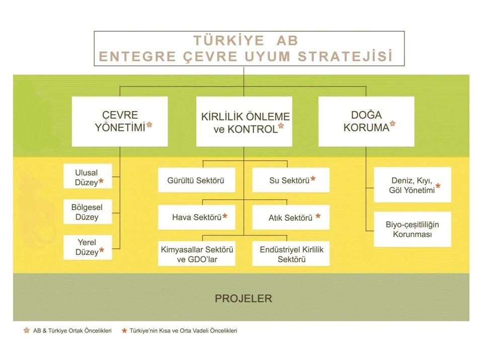 Sektörlere yönelik Sektörel Etki Analizi (SEA) yapılmalı Sektörel Etki Analizleri, müzakere sürecinde Komisyon'dan belirli sektörlerde geçiş dönemlerinin ve geçici istisnaların talep edilebilmesi ve aynı zamanda AB düzenlemelerinin uyumlaştırılması ve hayata geçirilebilmesi için optimum tarihin belirlenmesi açısından çok önemli Bakanlığın müzakere pozisyonunu güçlendirmesi ve Türkiye'nin rekabet gücünün zarar görmemesi açısından tüm sektörlerde SEA yapılması lazım Ele Alınan 3 Sektör: 1.2011-2030 YILLARI İÇİN TÜRKİYE'DE GEÇERLİ OLAN ÖMRÜNÜ TAMAMLAMIŞ ARAÇLAR DİREKTİFİ'NE İLİŞKİN SEKTÖREL ETKİ ANALİZİ (OTOMOTİV) 2.2015-2030 YILLARI ARASINDAKİ DÖNEMDE UÇUCU ORGANİK BİLEŞİKLER DİREKTİFİ'NİN TÜRK DEKORATİF BOYA SEKTÖRÜ ÜZERİNDEKİ ETKİLERİNİN DEĞERLENDİRİLMESİ ; 2015-2030 YILLARI ARASINDAKİ DÖNEMDE UÇUCU ORGANİK BİLEŞİKLER DİREKTİFİ'NİN TÜRK SON KAT BOYA SEKTÖRÜ ÜZERİNDEKİ ETKİLERİNE İLİŞKİN ETKİ DEĞERLENDİRMESİ (BOYA) 3.PİL VE AKÜLER DİREKTİFİ'NİN 2013-2030 DÖNEMİ İÇİN TÜRKİYE'DEKİ SEKTÖREL ETKİ ANALİZİ (AKÜ-PİL)