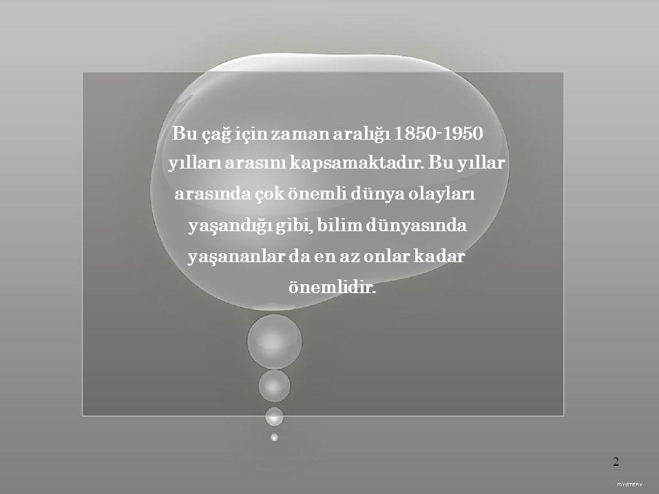 Bu çağ için zaman aralığı 1850-1950 yılları arasını kapsamaktadır.