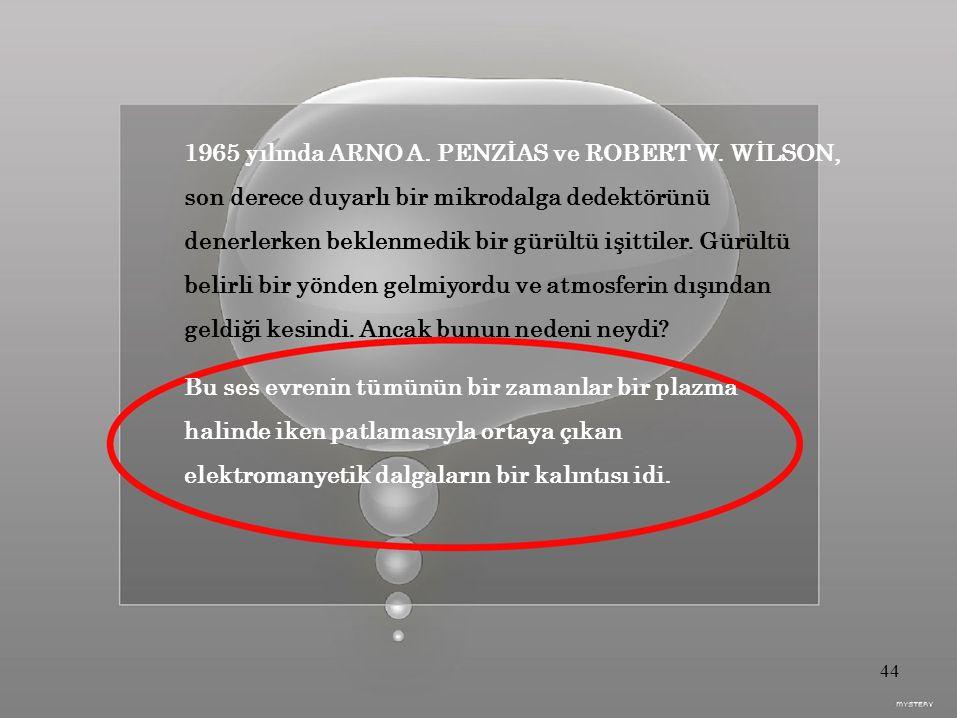 1965 yılında ARNO A.PENZİAS ve ROBERT W.