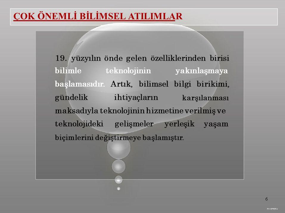 ÇOK ÖNEMLİ BİLİMSEL ATILIMLAR 19.