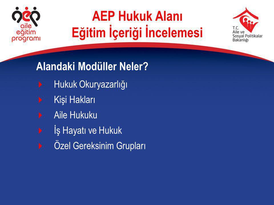 Eğitim Hakkı Herkes için eğitim AEP Hukuk Alanı Eğitim İçeriği İncelemesi