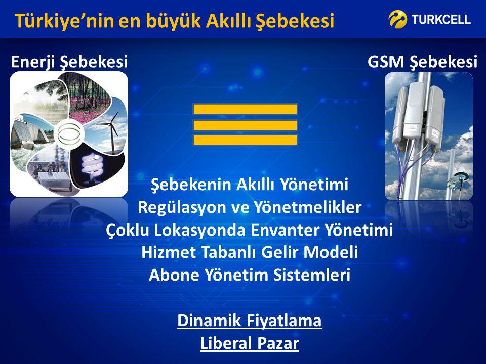 Türkiye'nin en büyük Akıllı Şebekesi Şebekenin Akıllı Yönetimi Regülasyon ve Yönetmelikler Çoklu Lokasyonda Envanter Yönetimi Hizmet Tabanlı Gelir Mod