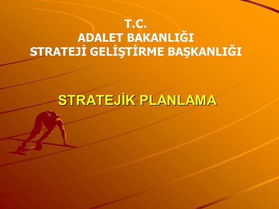 STRATEJİK PLANLAMA T.C. ADALET BAKANLIĞI STRATEJİ GELİŞTİRME BAŞKANLIĞI