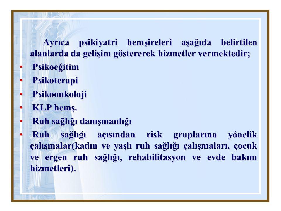 Türkiye'de psikoterapi eğitimi incelenecek olursa; tıp, hemşirelik, psikoloji bölümlerinde lisans programlarında kısıtlı saatlerde, psikoterapilerle ilgili genel bazı bilgiler verilmektedir.