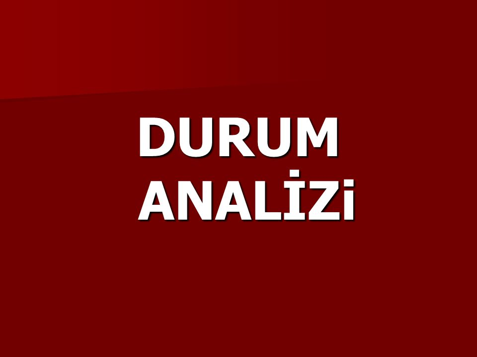 DURUM ANALİZi