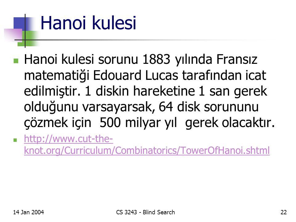 Hanoi kulesi Hanoi kulesi sorunu 1883 yılında Fransız matematiği Edouard Lucas tarafından icat edilmiştir.