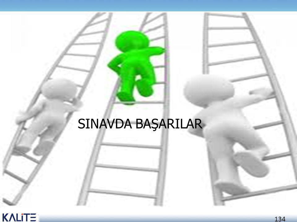 134 SINAVDA BAŞARILAR
