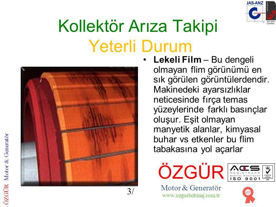 Kollektör Arıza Takipi Yeterli Durum Dilim Filmleri- Dilim dilim Tekrarlayan aydınlık ve karanlık filim tabakası şeklindedir.