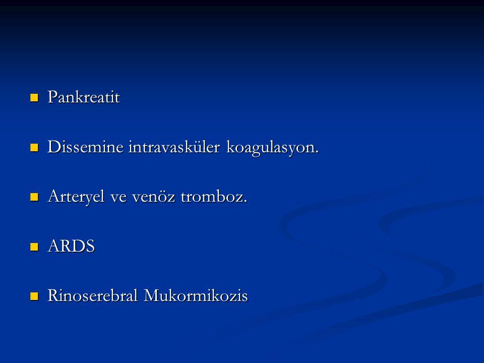 Pankreatit Pankreatit Dissemine intravasküler koagulasyon.