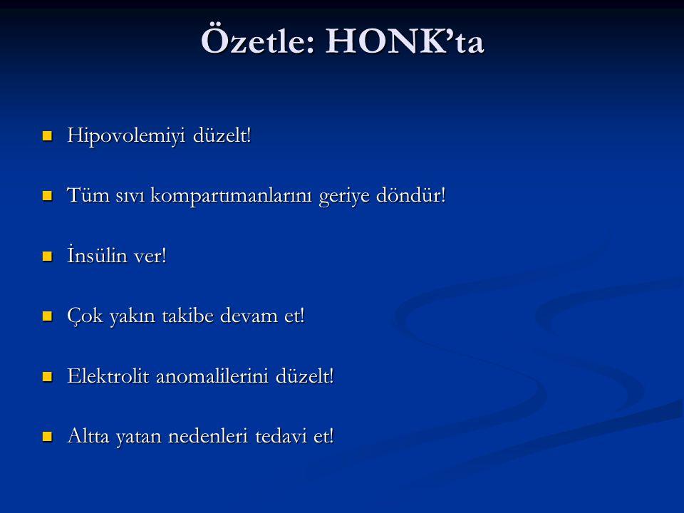 Özetle: HONK'ta Hipovolemiyi düzelt.Hipovolemiyi düzelt.