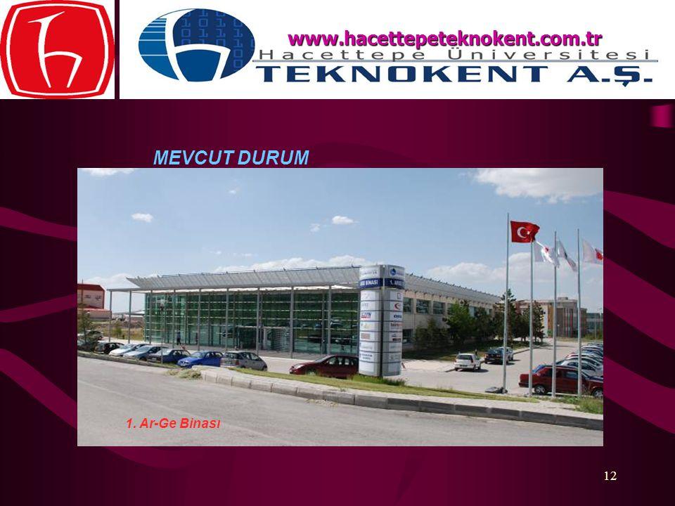 12 MEVCUT DURUM www.hacettepeteknokent.com.tr 1. Ar-Ge Binası