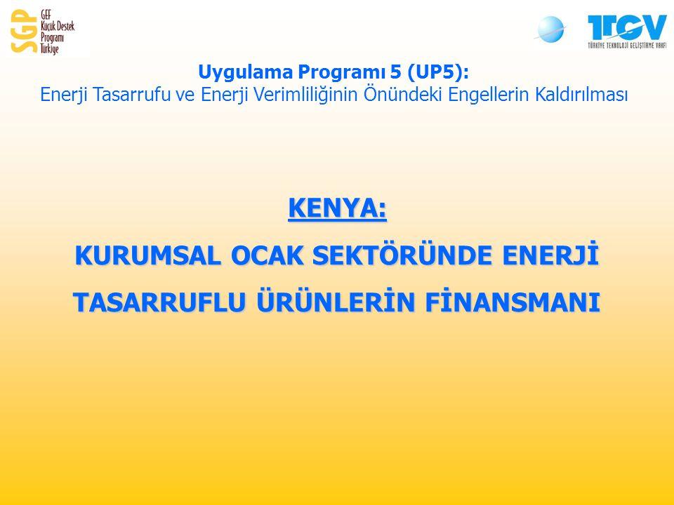 KENYA: KURUMSAL OCAK SEKTÖRÜNDE ENERJİ TASARRUFLU ÜRÜNLERİN FİNANSMANI Uygulama Programı 5 (UP5): Enerji Tasarrufu ve Enerji Verimliliğinin Önündeki Engellerin Kaldırılması