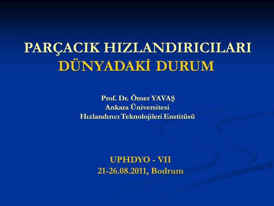 PARÇACIK HIZLANDIRICILARI DÜNYADAKİ DURUM Prof.Dr.