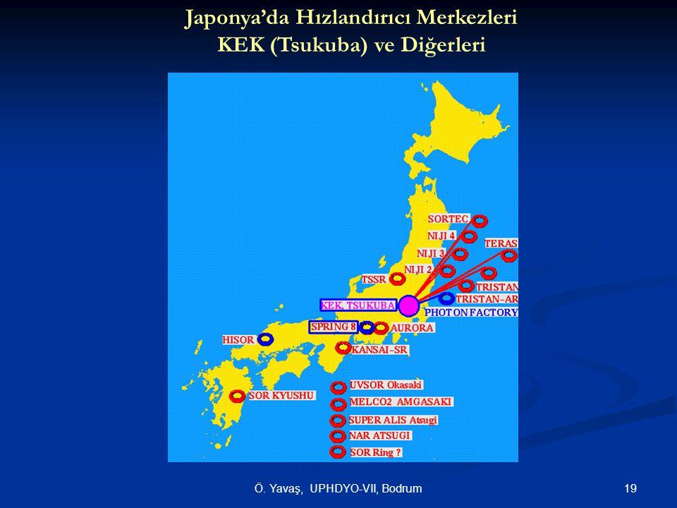 19Ö. Yavaş, UPHDYO-VII, Bodrum Japonya'da Hızlandırıcı Merkezleri KEK (Tsukuba) ve Diğerleri