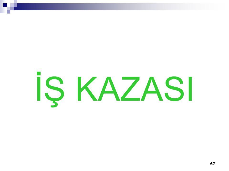 67 İŞ KAZASI