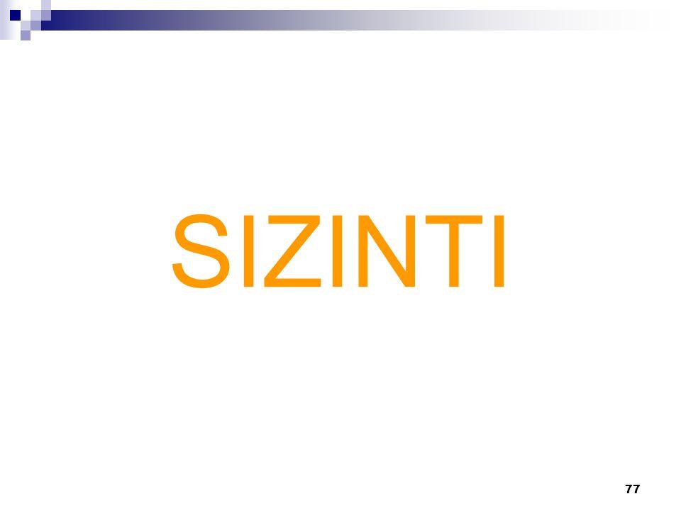 77 SIZINTI