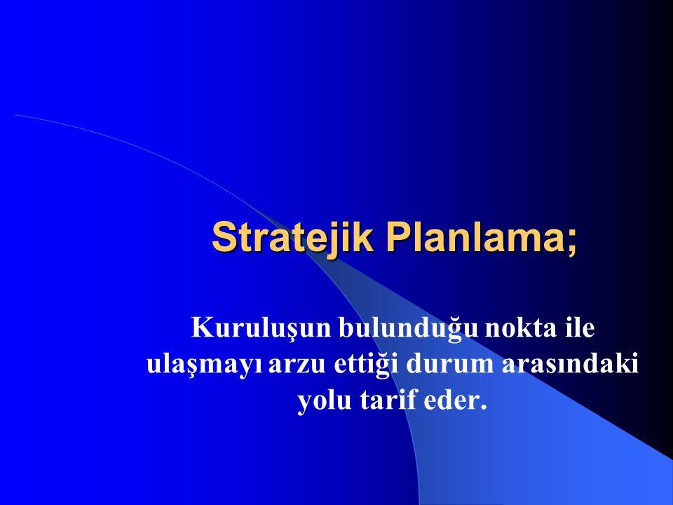 Stratejik Planlama nedir-ne değildir.