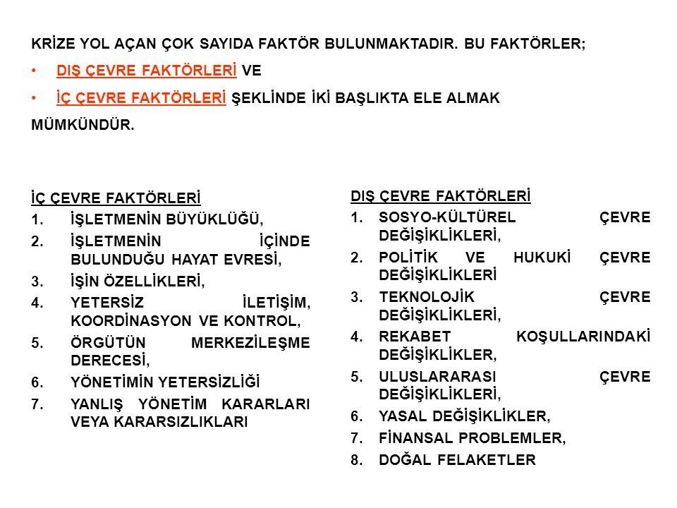 KRİZ YÖNETİMİNDE UYGULANAN TEKNİKLER 2.