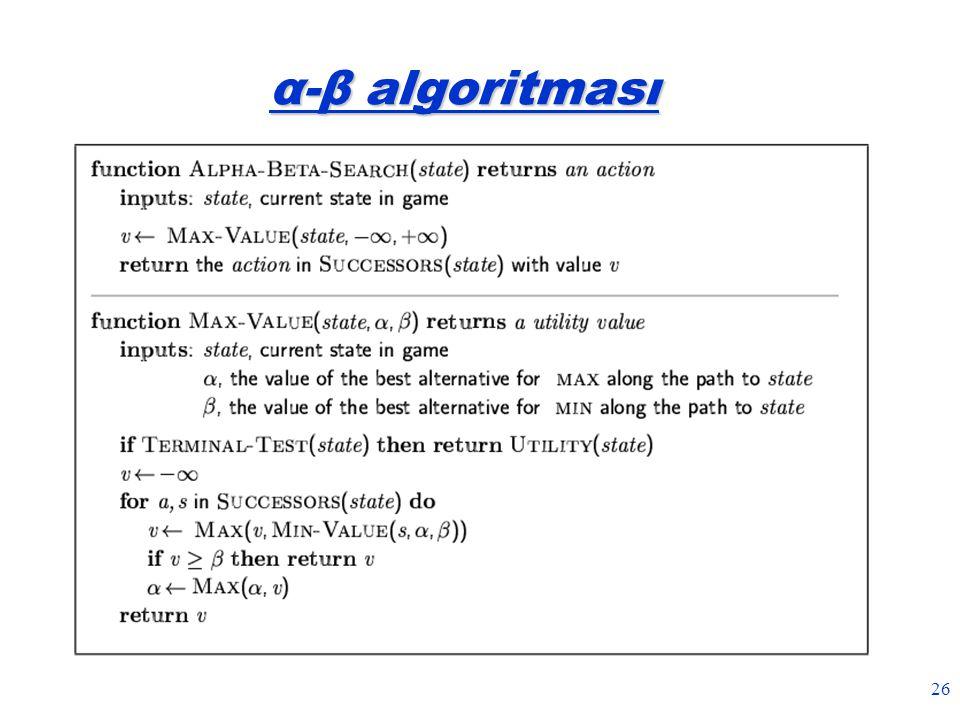 26 α-β algoritması