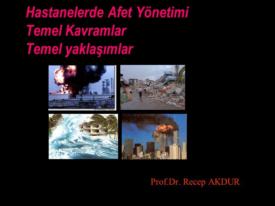AKDUR HAP NİSAN 20082 Bir afet tartışmasında kullanılan sözcükler Afet- olağan-olağan üstü durum (Usual-unusual / ordinary- extraordinary) Olay-acil durum- felaket -afet (İncident-emergency-disaster-catastrophe) Tehlike (hazart)-risk-kriz Biçarelik (helpless-poor) Etki-tepki /proaktif-reaktif /yönetim-yönetimsizlik Kapasite aşımı-başa çıkma kapasitesi-beklenmeyen olay