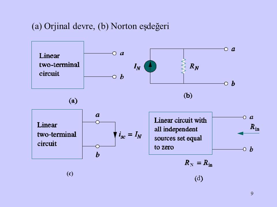 10 ÖRNEK: Norton eşdeğer devresini elde edin Doğru Akım (DC) Devere Analizi, H.