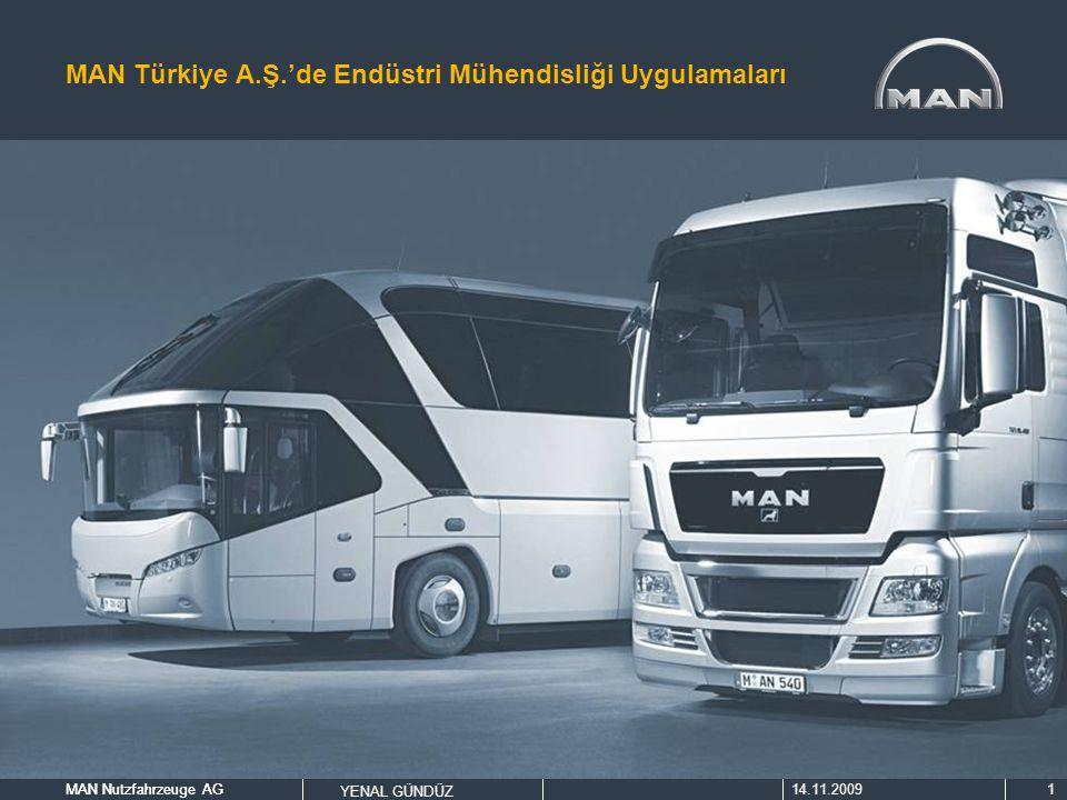 MAN Nutzfahrzeuge AG14.11.2009MAN Nutzfahrzeuge AG YENAL GÜNDÜZ 1 MAN Türkiye A.Ş.'de Endüstri Mühendisliği Uygulamaları