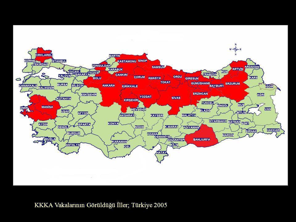 KKKA Vakalarının Görüldüğü İller; Türkiye 2005