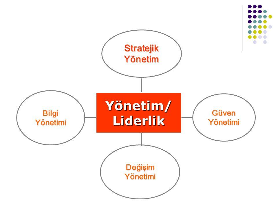 Stratejik Yönetim Yönetim/Liderlik Güven Yönetimi Değişim Yönetimi Bilgi Yönetimi