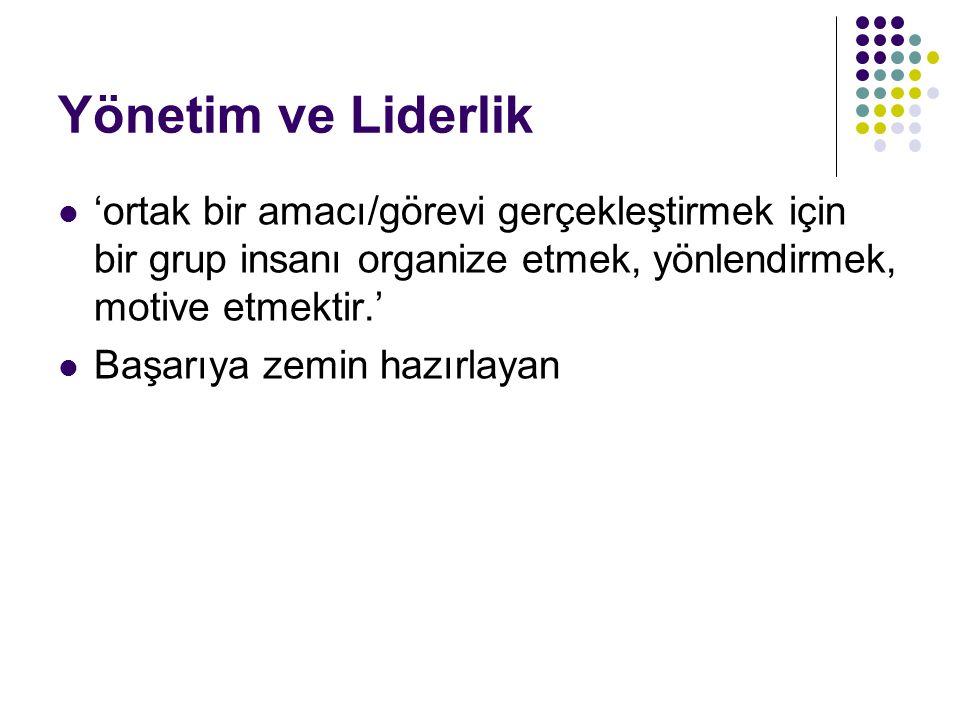 BİLGİ YÖNETİMİ İÇİN TESPİTLER II 5.