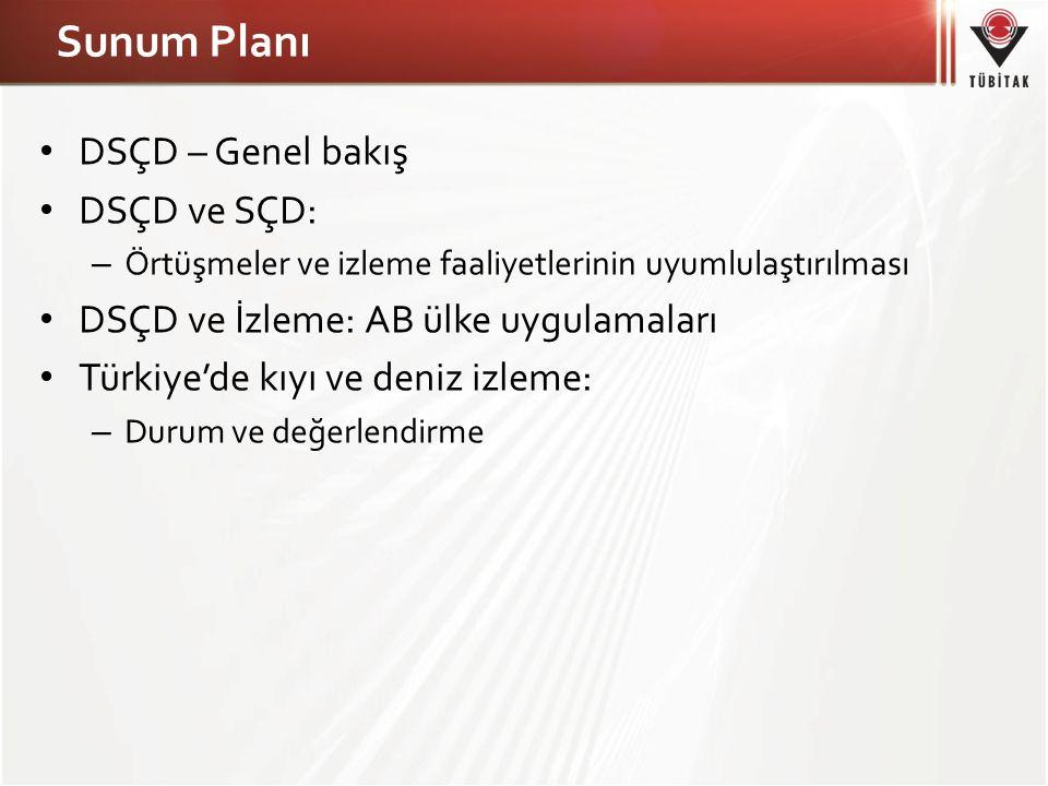 Sunum Planı DSÇD – Genel bakış DSÇD ve SÇD: – Örtüşmeler ve izleme faaliyetlerinin uyumlulaştırılması DSÇD ve İzleme: AB ülke uygulamaları Türkiye'de