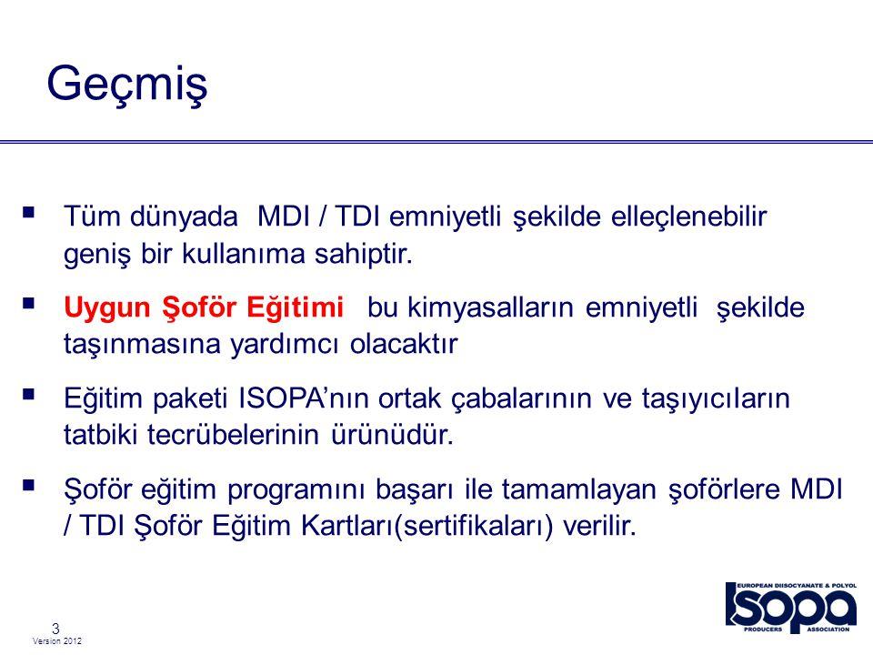 Version 2012 4  European ISO cyanate P roducers A ssociation (Avrupa Izosiyanat Üreticileri Derneği)  Web sitesi www.isopa.org  Üye şirketler : Önsöz – Takdim, ISOPA olyol