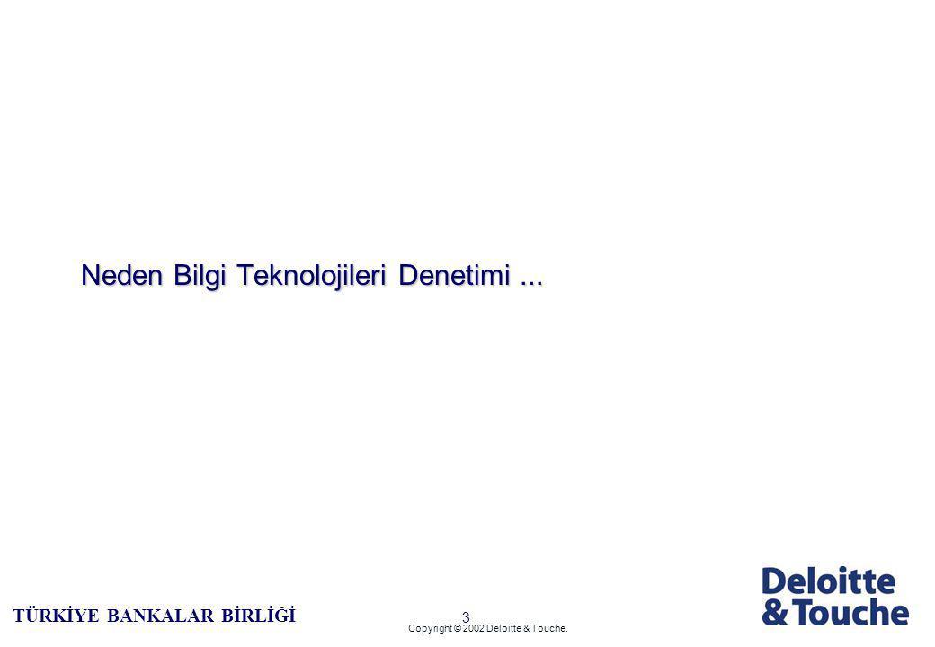 2 TÜRKİYE BANKALAR BİRLİĞİ Copyright © 2002 Deloitte & Touche.