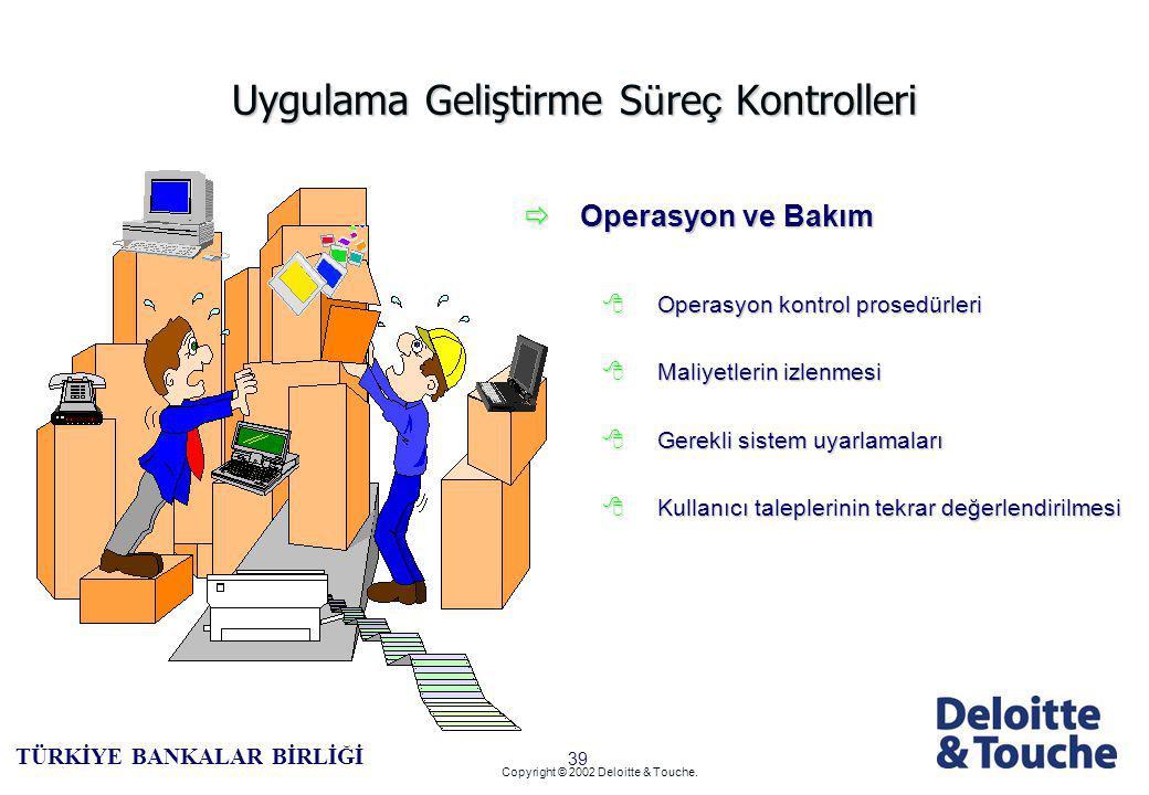 38 TÜRKİYE BANKALAR BİRLİĞİ Copyright © 2002 Deloitte & Touche.