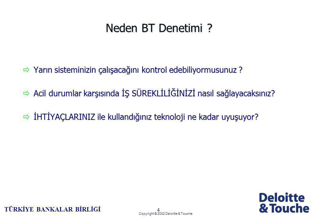 3 TÜRKİYE BANKALAR BİRLİĞİ Copyright © 2002 Deloitte & Touche.