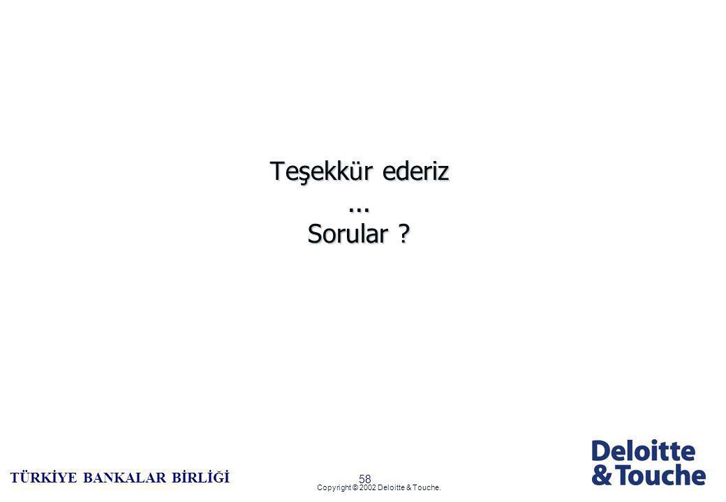 57 TÜRKİYE BANKALAR BİRLİĞİ Copyright © 2002 Deloitte & Touche.