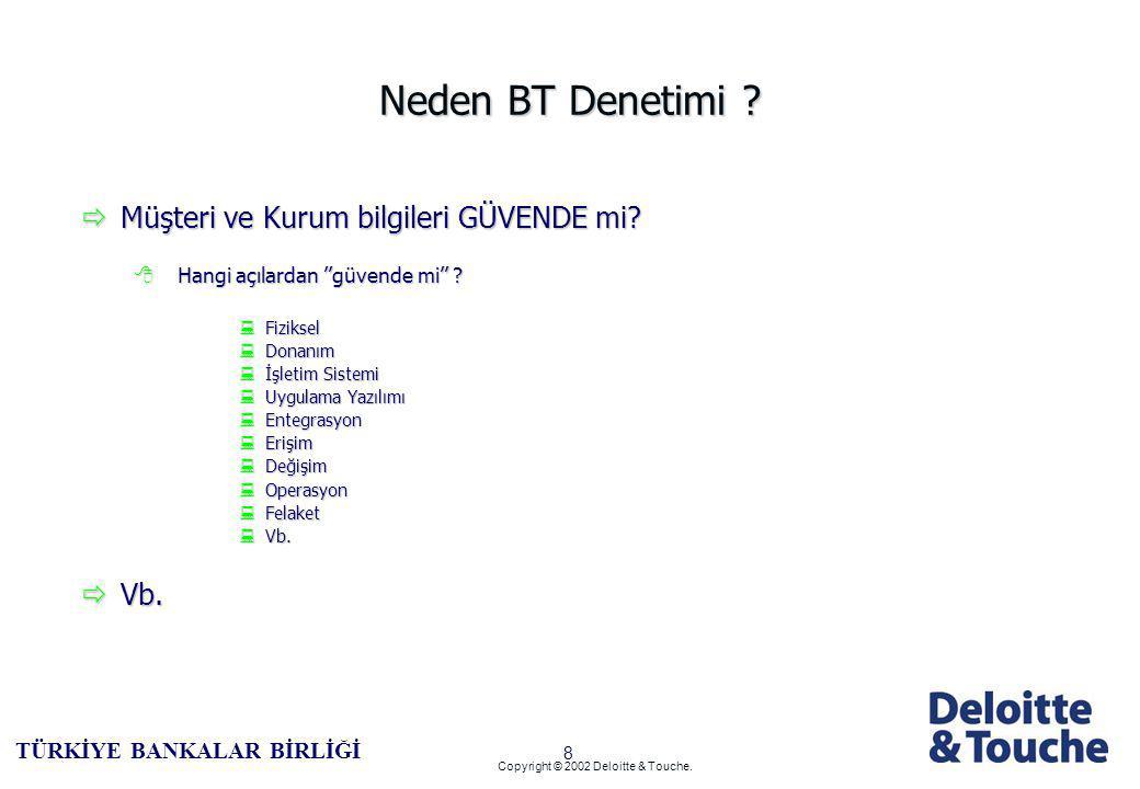 7 TÜRKİYE BANKALAR BİRLİĞİ Copyright © 2002 Deloitte & Touche.