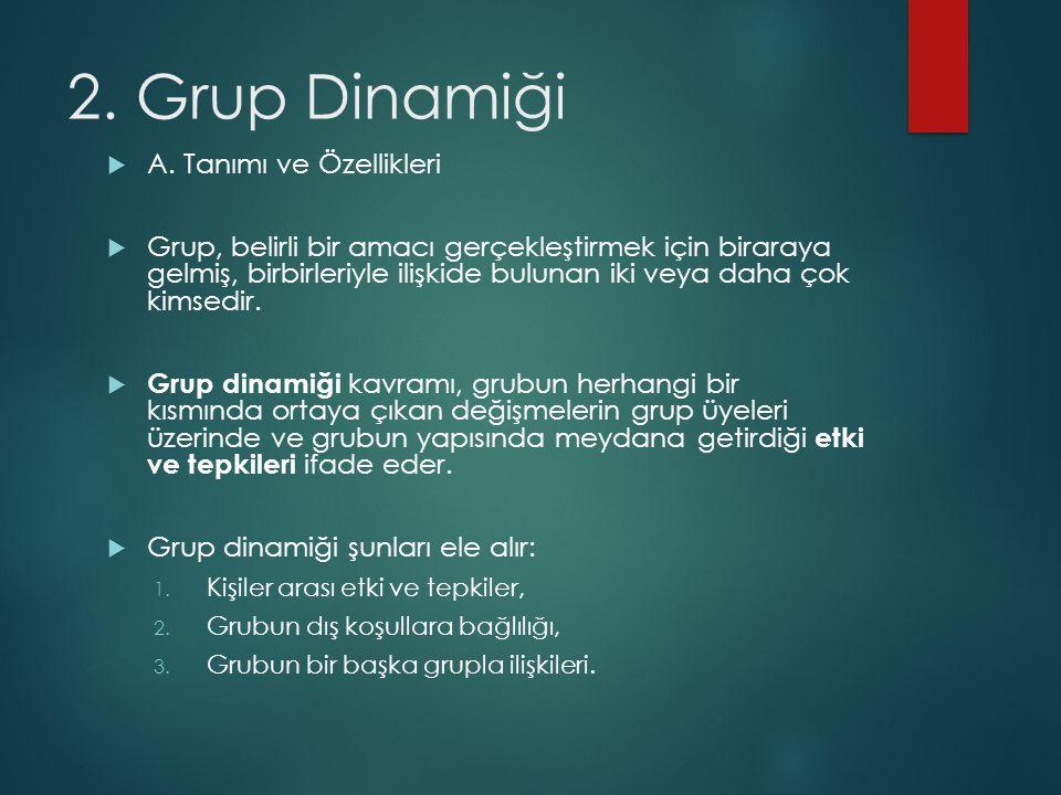 2.Grup Dinamiği  A.