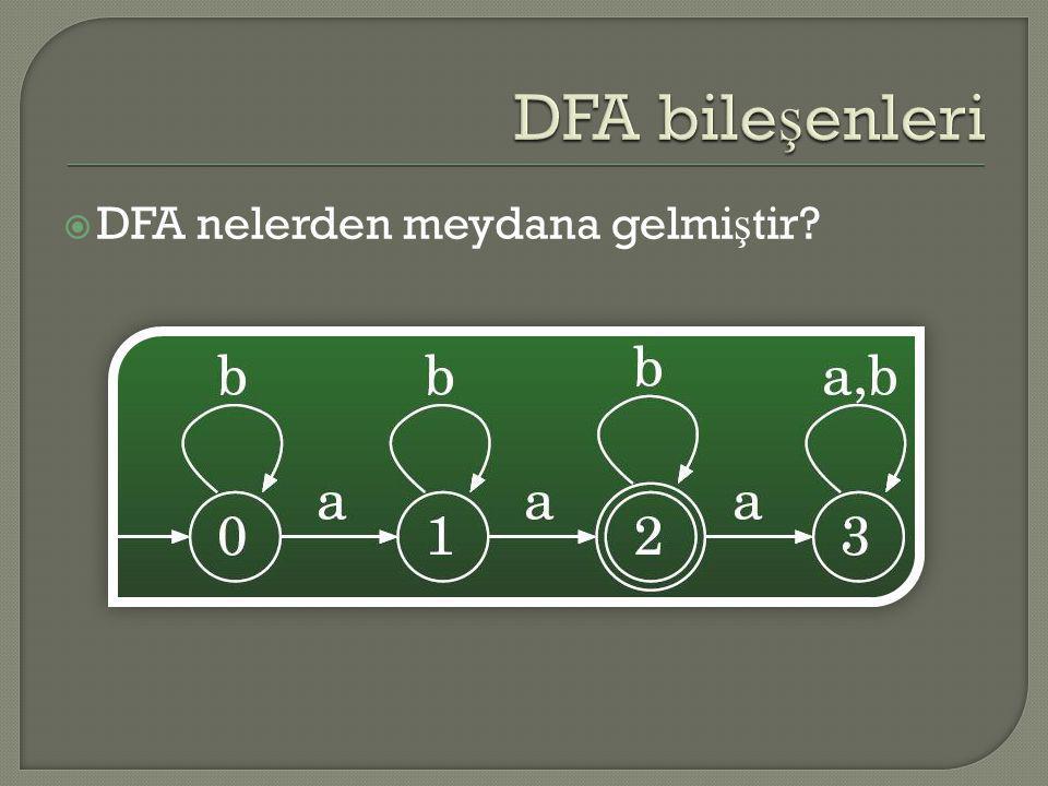  DFA nelerden meydana gelmi ş tir?