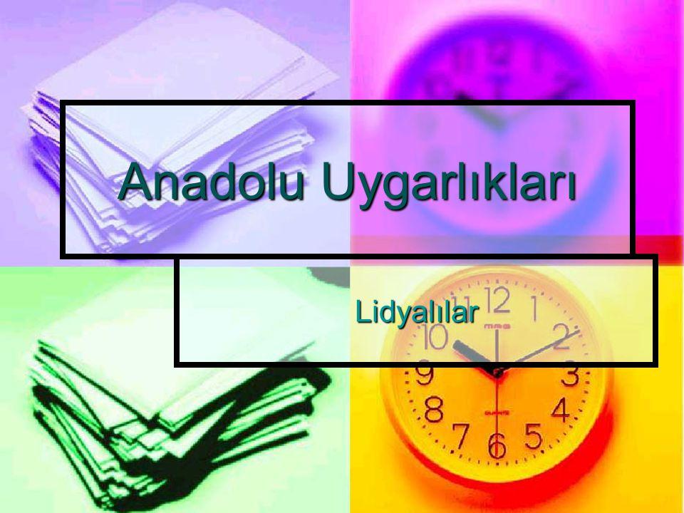 Siyasal Durum İlk Çağ'da Gediz ve Küçük Menderes nehirleri arasında kalan bölgeye Lidya denilmiştir.