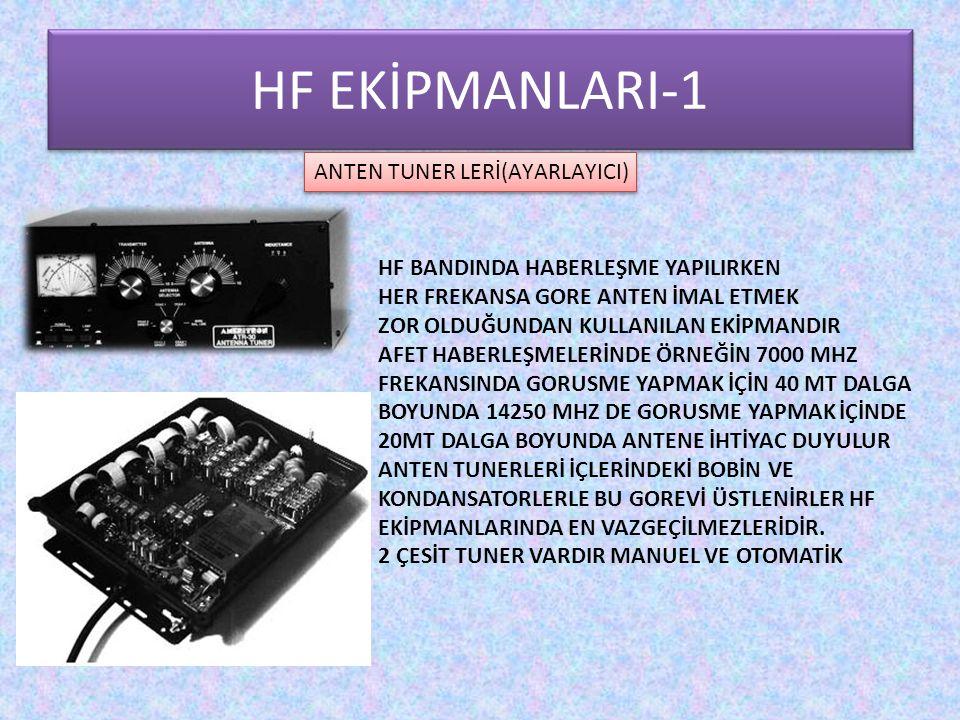 HF EKİPMANLARI-1 ANTEN TUNER LERİ(AYARLAYICI) HF BANDINDA HABERLEŞME YAPILIRKEN HER FREKANSA GORE ANTEN İMAL ETMEK ZOR OLDUĞUNDAN KULLANILAN EKİPMANDI