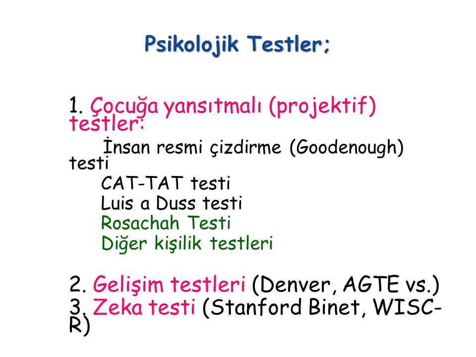 Psikolojik Testler; 1.