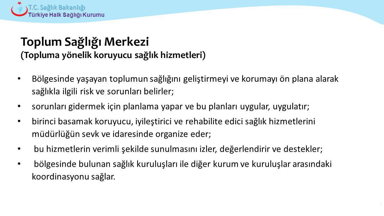 Çocuk ve Ergen Sağlığı Daire Başkanlığı Türkiye Halk Sağlığı Kurumu T.C. Sağlık Bakanlığı Bölgesinde yaşayan toplumun sağlığını geliştirmeyi ve koruma