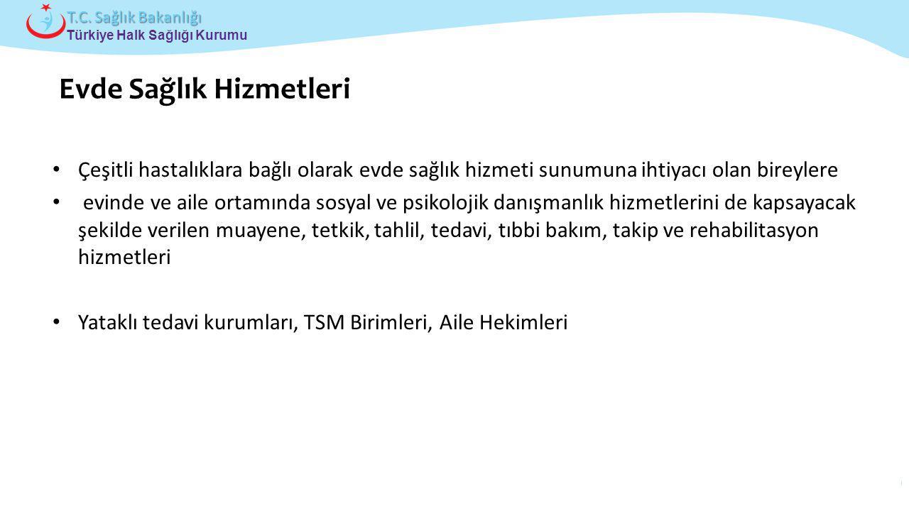 Çocuk ve Ergen Sağlığı Daire Başkanlığı Türkiye Halk Sağlığı Kurumu T.C. Sağlık Bakanlığı Çeşitli hastalıklara bağlı olarak evde sağlık hizmeti sunumu