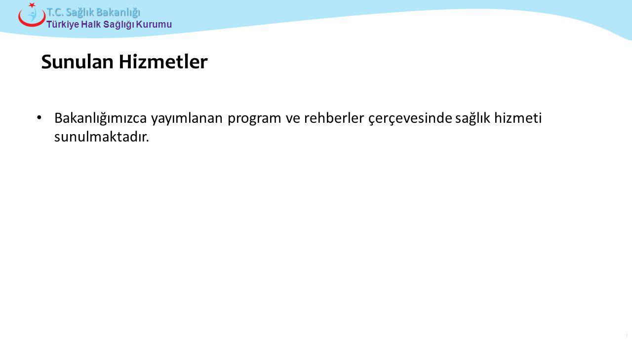 Çocuk ve Ergen Sağlığı Daire Başkanlığı Türkiye Halk Sağlığı Kurumu T.C. Sağlık Bakanlığı Bakanlığımızca yayımlanan program ve rehberler çerçevesinde