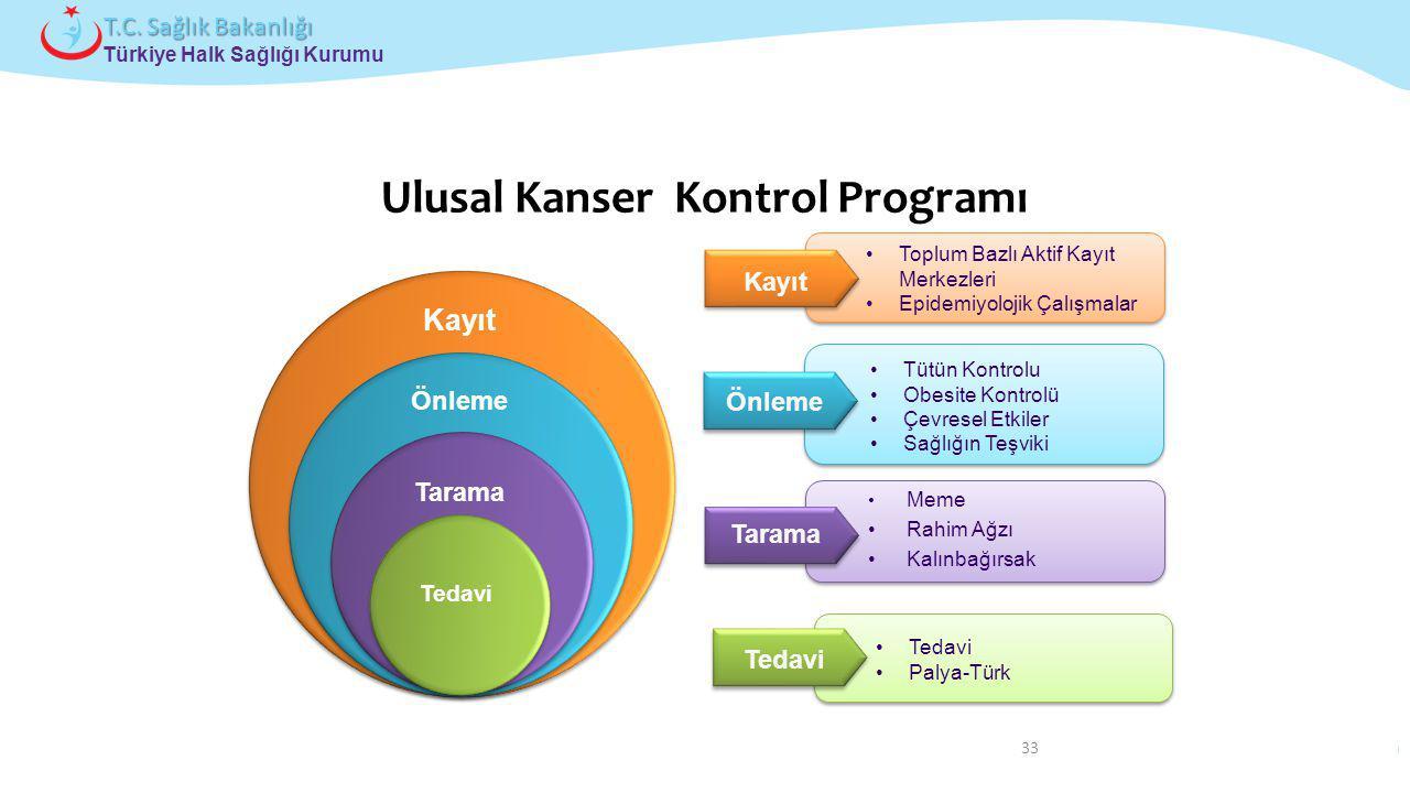 Çocuk ve Ergen Sağlığı Daire Başkanlığı Türkiye Halk Sağlığı Kurumu T.C. Sağlık Bakanlığı 33 Ulusal Kanser Kontrol Programı Önleme Tütün Kontrolu Obes
