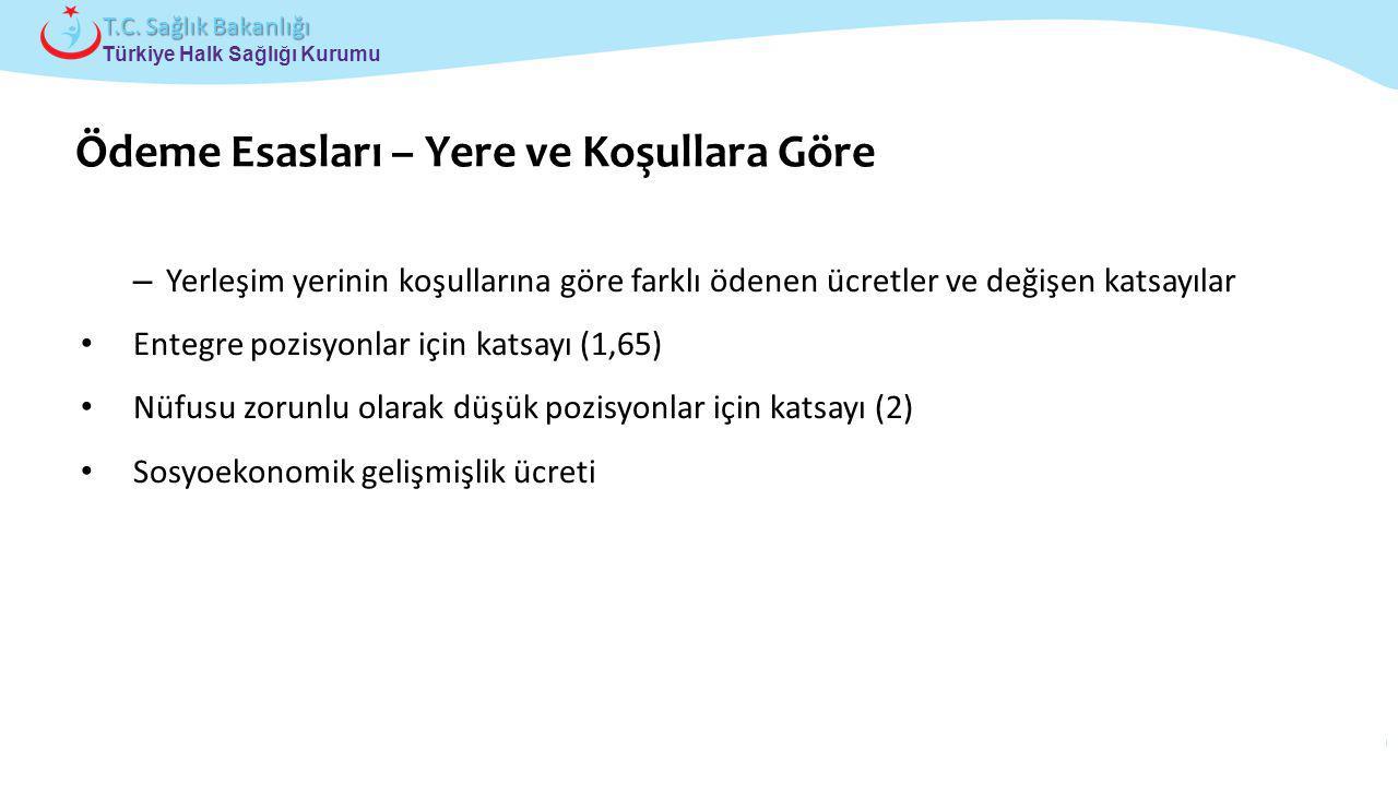 Çocuk ve Ergen Sağlığı Daire Başkanlığı Türkiye Halk Sağlığı Kurumu T.C. Sağlık Bakanlığı – Yerleşim yerinin koşullarına göre farklı ödenen ücretler v