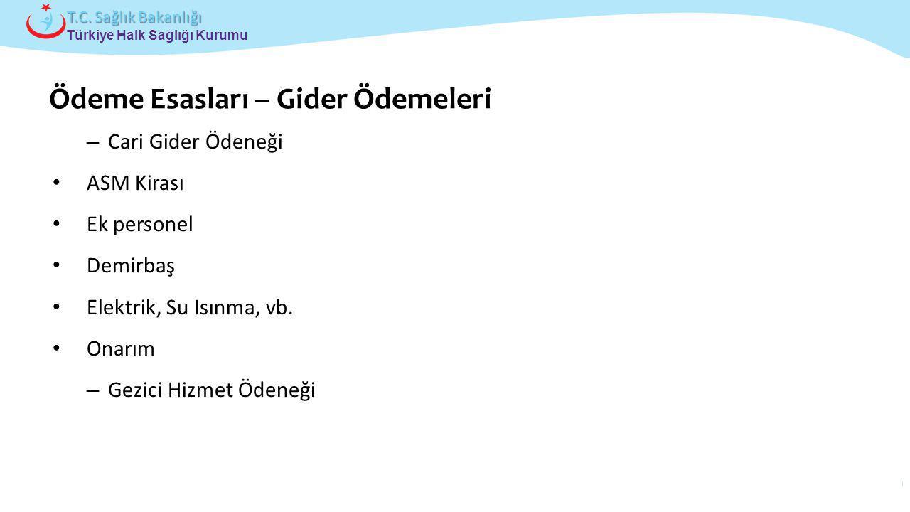 Çocuk ve Ergen Sağlığı Daire Başkanlığı Türkiye Halk Sağlığı Kurumu T.C. Sağlık Bakanlığı – Cari Gider Ödeneği ASM Kirası Ek personel Demirbaş Elektri