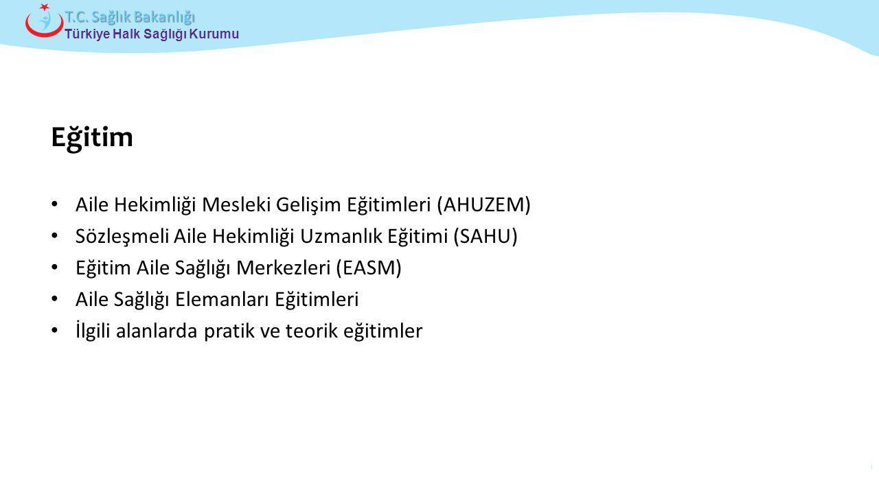 Çocuk ve Ergen Sağlığı Daire Başkanlığı Türkiye Halk Sağlığı Kurumu T.C. Sağlık Bakanlığı Eğitim Aile Hekimliği Mesleki Gelişim Eğitimleri (AHUZEM) Sö