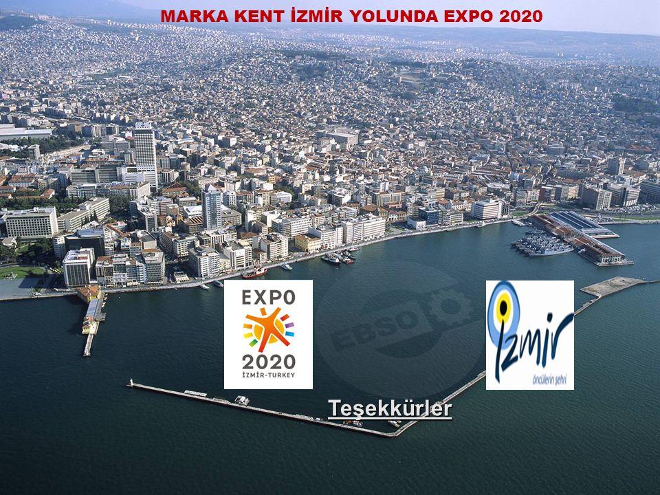 EGE BÖLGESİ SANAYİ ODASI ÜRETİM YOKSA KALKINMA HAYALDİR. 19 Ekim 2010 10 Teşekkürler MARKA KENT İZMİR YOLUNDA EXPO 2020