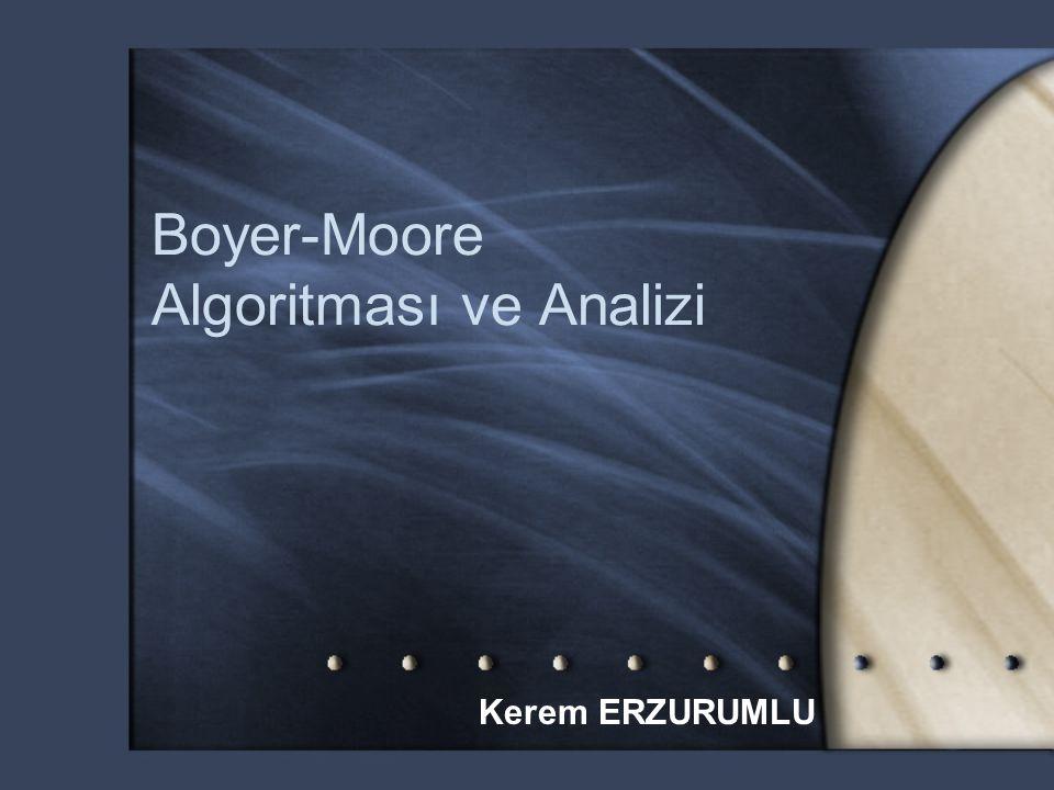 Boyer-Moore Algoritması ve Analizi Kerem ERZURUMLU